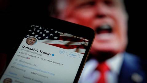 تويتر يحارب ترامب ويحذف تغريدته