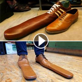 يصل إلى 75 سنتيمترا.. حذاء ضد فيروس كورونا لضمان التباعد الاجتماعي