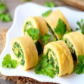 إليكم طريقة تحضير أومليت بالبقدونس لفطور صباحي طيب ولذيذ