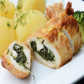 طريقة تحضير رولات الدجاج بالسبانخ والجبن للرجيم بطعم شهي ومميز