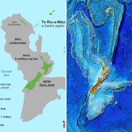 علماء يحددون حجم ومكان القارة الثامنة الغارقة تحت مياه المحيط الهادي
