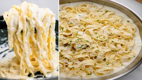 ألذ الأطباق الإيطالية: إليكم طريقة تحضير معكرونة فوتشيني ألفريدو