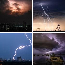 بسرعة البرق.. صور مذهلة ونادرة لعواصف رعدية جميلة حول العالم