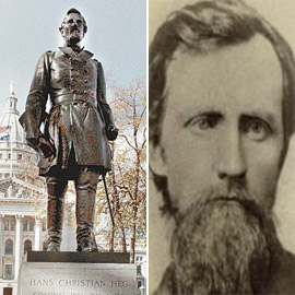 كولونيل دافع عن العبودية وحارب مع أمريكا فدنسوا تمثاله!