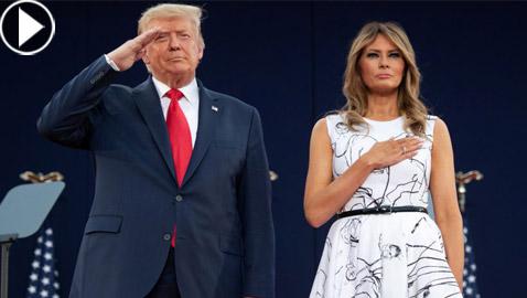الرئيس ترامب يرتكب خطأ محرجا فادحا خلال النشيد الوطني الأمريكي!