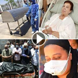 صور جنازة رجاء الجداوي في تابوت حديدي وابنتها تطرد بعض المشيعين!