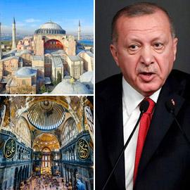 أردوغان يتمسك بـ(الحقوق السيادية) في تحويل آيا صوفيا إلى مسجد