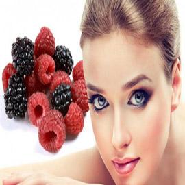 التوت البري والعنب الأحمر للبشرة الدهنية