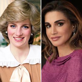 الملكة رانيا العبد الله ثاني أجمل الملكات والأميرات في العالم بعد  ..