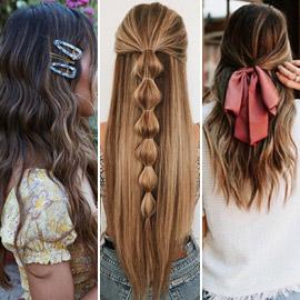 شعر متطاير بإطلالات مختلفة كل يوم.. 10 أفكار لتسريحات الشعر المنسدل