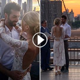 عابرة سبيل تخلد ذكرى زفاف زوجين في صورة نالت التعاطف والإعجاب!