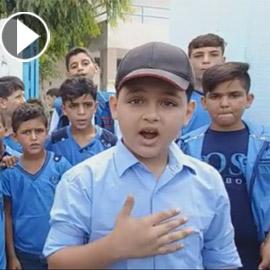 فيديو وصور طفل فلسطيني يحترف (الراب) ويغني بالانجليزية عن الحرية  ..