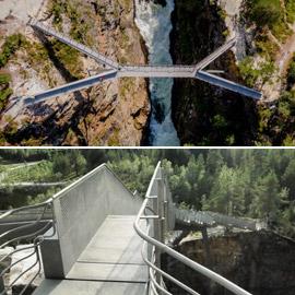 أعجوبة معمارية.. ما رأيك بعبور جسر يطفو فوق شلال بالنرويج؟ صور