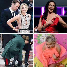 تمزقت ملابسهم.. صور لمواقف محرجة تعرض لها النجوم أمام الكاميرات!