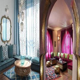 الطابع المغربي في التصميم الداخلي (صور)