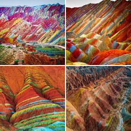 جبال دنكسيا في الصين: ملونة بقوس قزح كلوحة زيتية ويعشقها السياح