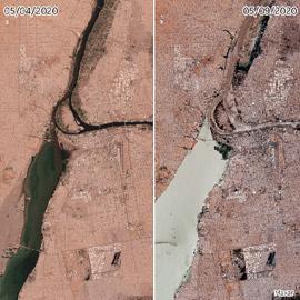 فيضانات السودان: صور بالأقمار الاصطناعية تكشف دمارا واسعا