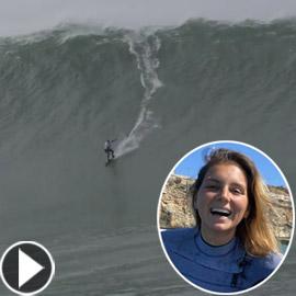 لقطة توقف القلب: برازيلية تحطم رقما قياسيا بركوب أكبر موجة أسطورية!