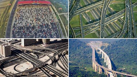 بالصور: تعرفوا إلى أطول 10 شبكات طرق في العالم