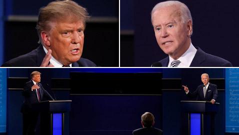 كلمات جارحة واشتباك عنيف بين ترامب وبايدن بأول مناظرة أمريكية حادة