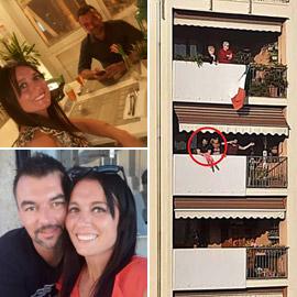 روميو وجولييت الحجر الصحي: إيطاليان يحتفلان بخطوبتهما من الشرفة