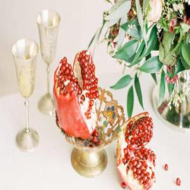 صور زينة طاولات الأفراح من الفواكة والزهور