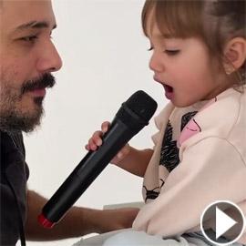فيديو طفلة رامي عياش تغني معه (قمرة يا قمرة) وتذيب القلوب بجمالها  ..