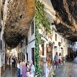 سكان يعيشون أسفل صخرة عملاقة بإسبانيا.. هل هذه أغرب المدن في العالم؟