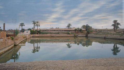 البحيرة المقدسة بالأقصر في مصر..أعجوبة من عجائب الحضارة القديمة