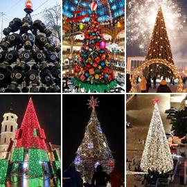 أكثر أشجار عيد الميلاد التقليدية وغير التقليدية روعة حول العالم في  ..
