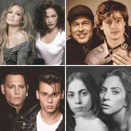 إليكم صور المشاهير المفاجئة المدهشة بين الماضي والحاضر