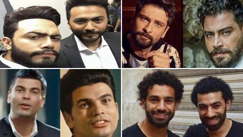 أشباه النجوم هؤلاء الأشخاص نسخة ثانية عن أجمل المشاهير الرجال العرب