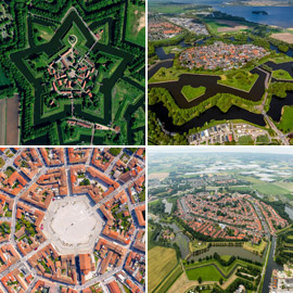 يمكن رؤيتها من الأعلى.. إليكم أجمل المدن نجمية الشكل في أوروبا