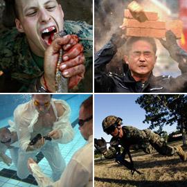 منها شرب دماء الأفاعي.. تدريبات عسكرية غريبة ومجنونة لجيوش العالم