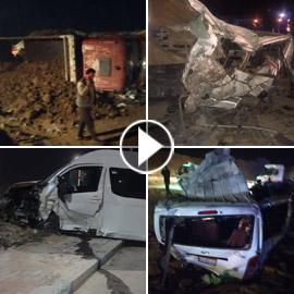 18 قتيلا بينهم أطفال بحادث سير بمصر.. شاحنة انقلبت على حافلة ودمرتها