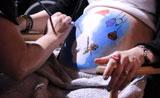 الأمومة المكياج فن الرسم وصل للمرأة للحامل